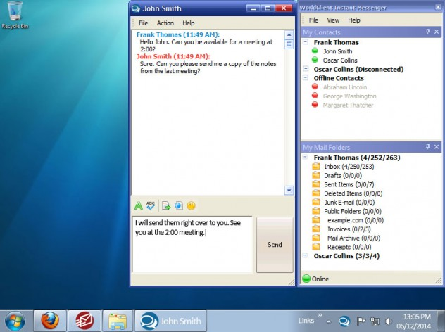 WorldClient Instant Messenger for MDaemon Messaging Server Screenshot